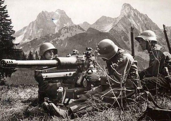 Швейцарская армия на учениях.1939 г.
