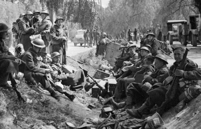 Британские войска в Греции.