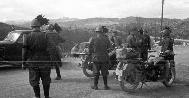 Итальянские войска в Югославии.
