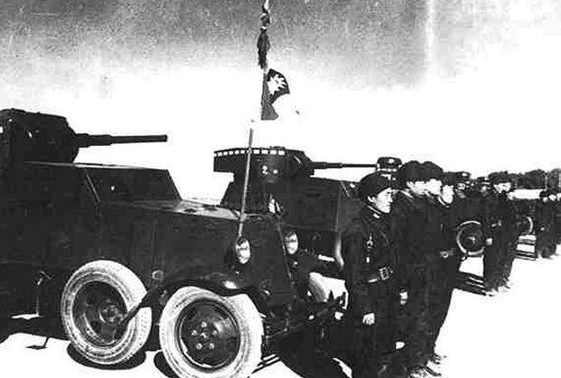 Бронеавтомобили «БА-6» и «БА-27» в китайской армии.