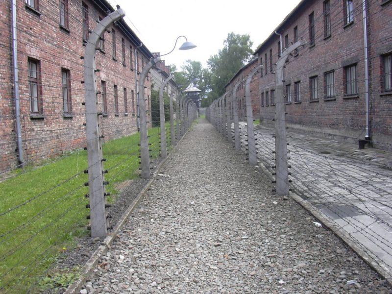 Бараки и улица лагеря «Аушвиц I».