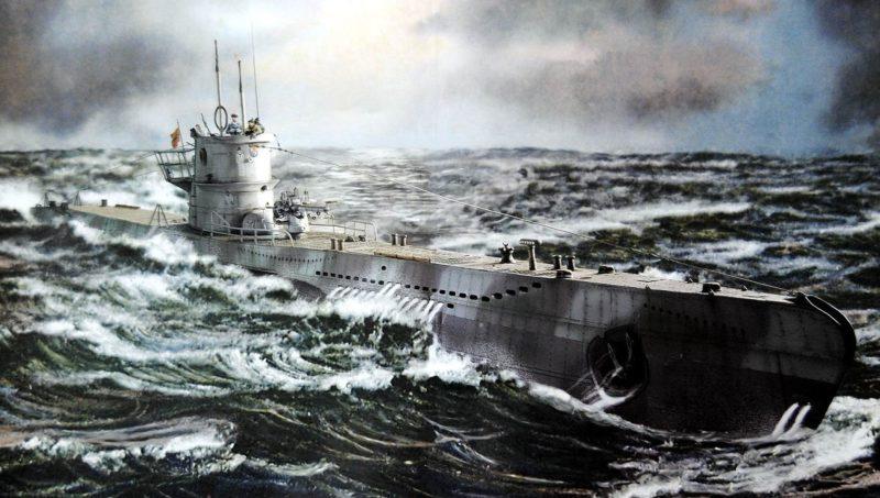 Немецкая подводная лодка типа VIIC.