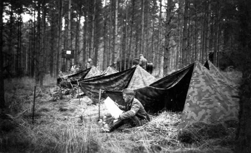 Палаточный лагерь немецких войск на границе c Польшей. 31.08.1939 г.