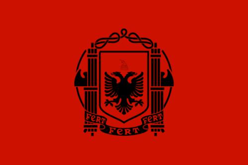 Флаг Албании во время оккупации.