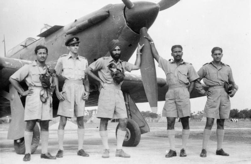 Индийские пилоты в Королевских ВВС.