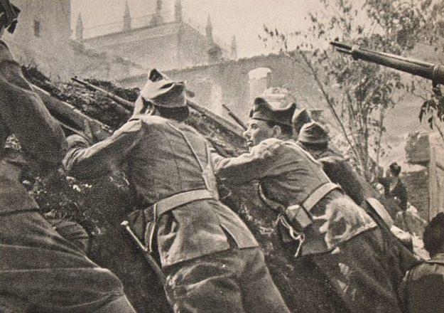 Республиканцы в бою у Толедо. 1936 г.