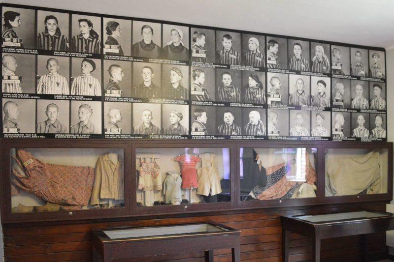 Экспонаты музея в Освенциме.