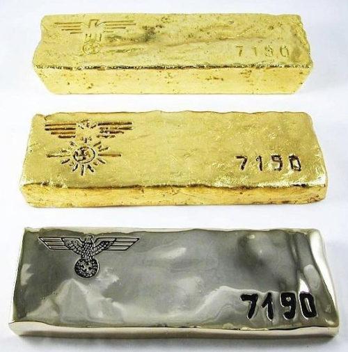 Таким золотом нацисты рассчитывались в швейцарских банках.