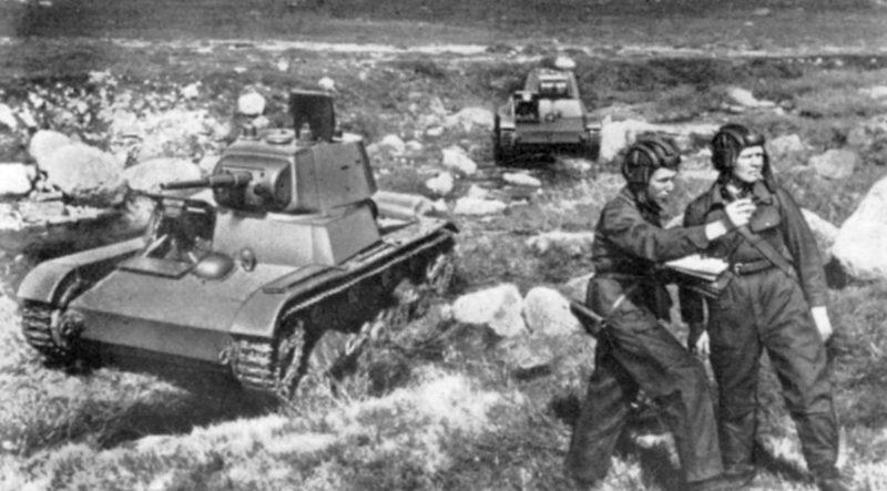 Танкисты на Карельском фронте. 1942 г.