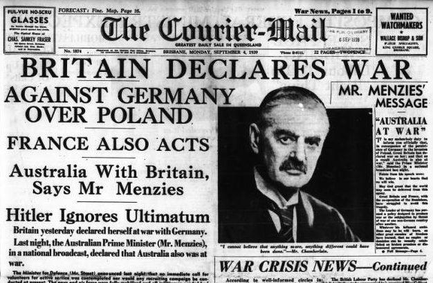 Британские газеты о начале войны.
