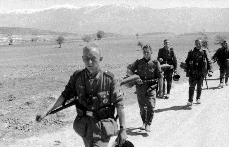 Немецкие войска в Греции.