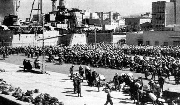 Эвакуация британских войск с Греции.