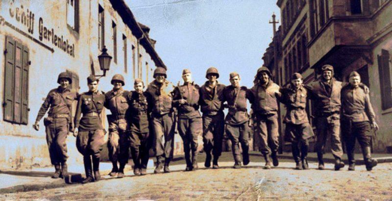 Союзники близ Торгау. 25 апреля 1945 г.