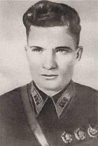 Доброволец лётчик-истребитель А.А. Губенко.