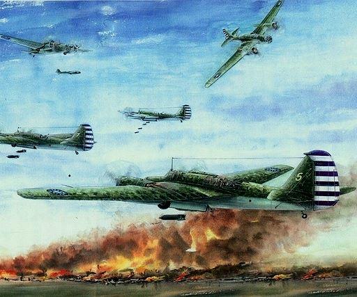 Бомбардировщики «ТБ-3» с китайскими опознавательными знаками.