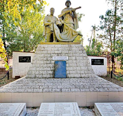 ст-ца. Ольгинская Аксайского р-на. Памятник воинам, погибшим в Великой Отечественной войне.