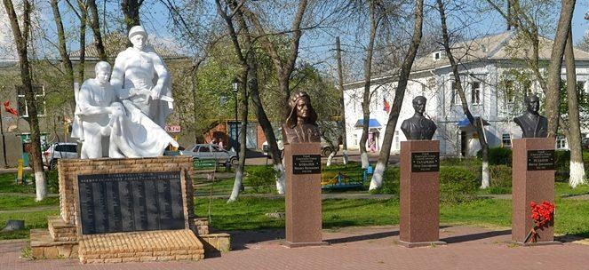 ст-ца. Старочеркасская Аксайского р-на. Памятники мемориального комплекса «Каплица».