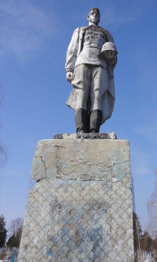 ст-ца. Новолабинская Усть-Лабинского р-на. Памятник на братской могиле советских воинов.