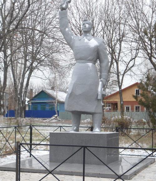 с. Шабельское Щербиновского р-на. Памятник советским воинам, погибшим в годы войны.