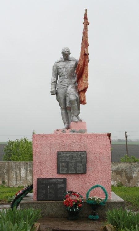 ст-ца. Новоромановская Тихорецкого р-на. Памятник, установленный на братской могиле советских воинов.