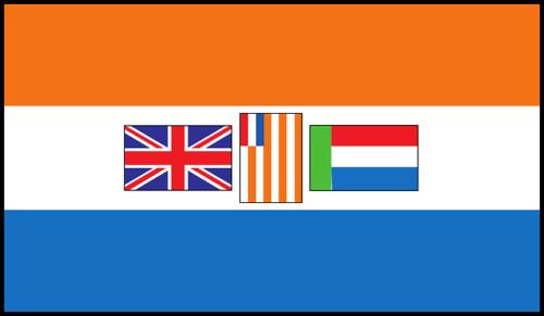 Флаг ЮАС времён Второй мировой войны.