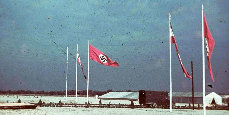 Временный лагерь немцев из Бессарабии в Белграде. 1940 г.