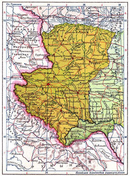 Западная Украина в границах от 3 октября 1939 года.