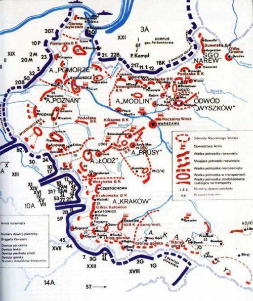 Дисклокация войск на германо-польской границе 01.09.1939 г.