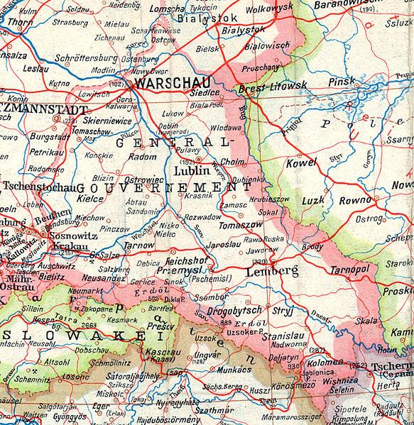 Карта Генерал-губернаторства, 1943 г.
