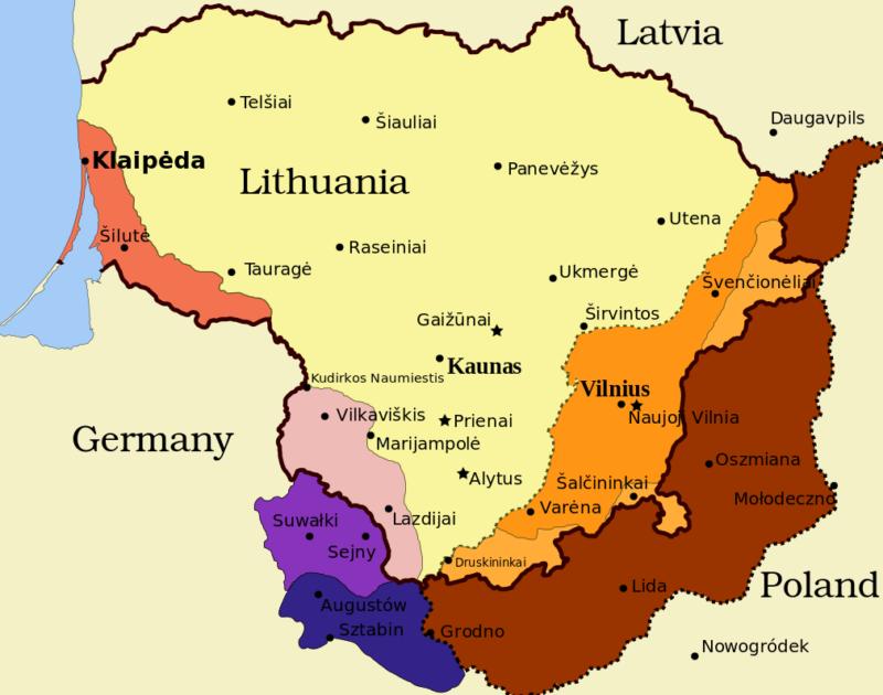 Территориальные проблемы Литвы в1939–1940 гг.