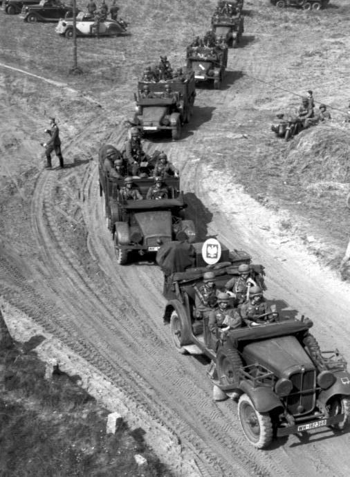 Войска Вермахта в Польше.