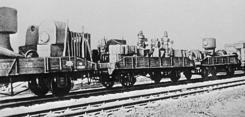 Эвакуация заводского оборудования. Август 1941 г.
