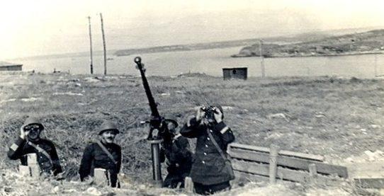 Зенитный расчет в обороне. Октябрь 1941 г.