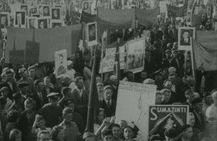 Митинг на поддержку вступления Литвы в СССР.