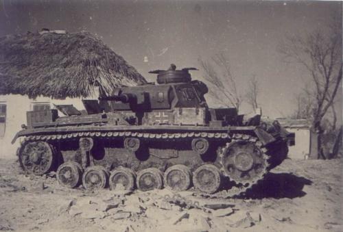 Немецкий танк в районе Шевченко\Смирновского. Октябрь 1941 г.