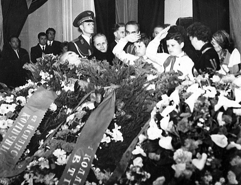 Похороны генерала Денисова. 1971 г.