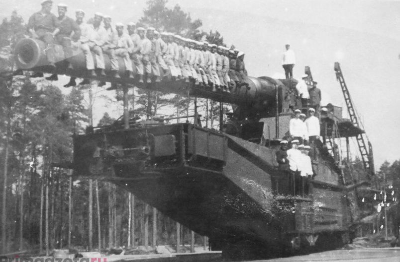 Железнодорожное орудие ТМ-180. 1941 г.