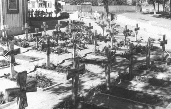 Немецкие захоронения в Таганроге. Апрель 1942 г.