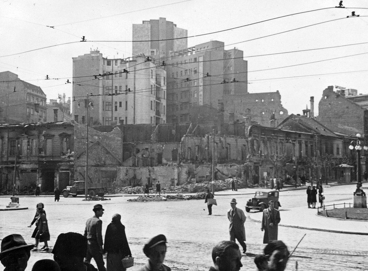 Разрушения в Белграде после немецкой бомбардировки. Апрель 1941 г.