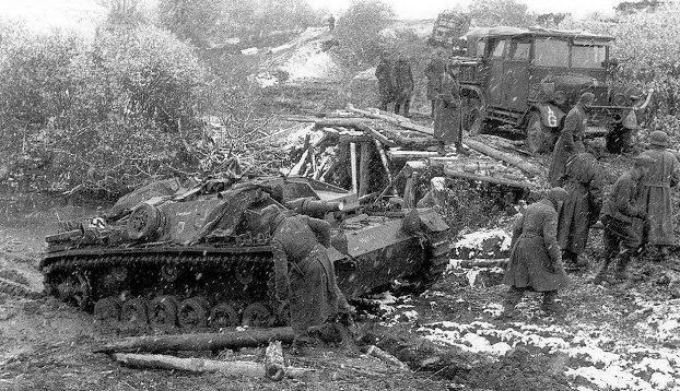 Распутица под Тулой. Октябрь 1941 г.