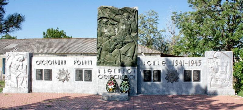 х. Новороссошанский Тацинского р-на. Мемориал воинам-односельчанам, погибшим в годы войны.