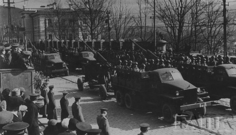Парад Победы во Владивостоке. 1945 г.