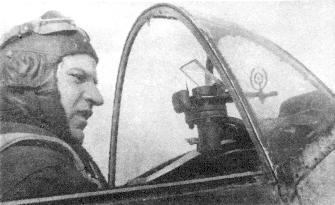Зайцев в кабине самолета. 1942 г.