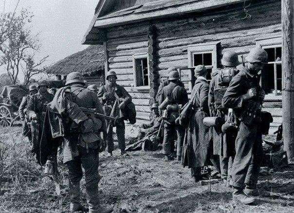 Немцы в районе Богудонии. Лето 1943 г.
