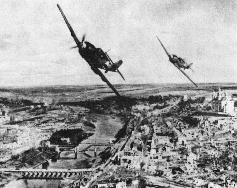 Немецкие истребители над Смоленском. 28 июля 1941 г.