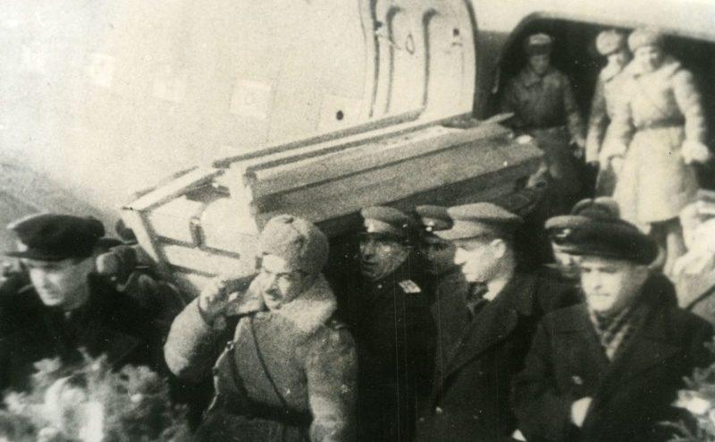 Похороны генерала Асланова. 1945 г.