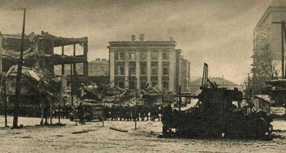 Немцы входят в город. 29 июля 1941 г.