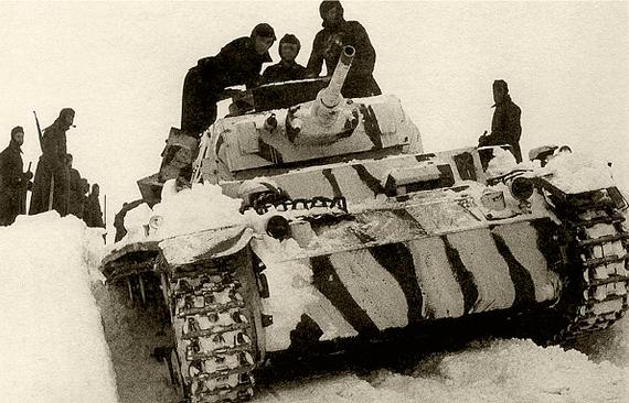 Немецкие танки под Тулой. Ноябрь 1941 г.