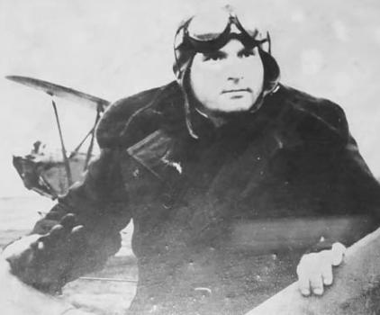 Камозин перед полетом в аэроклубе Бордовичи. 1949 г.