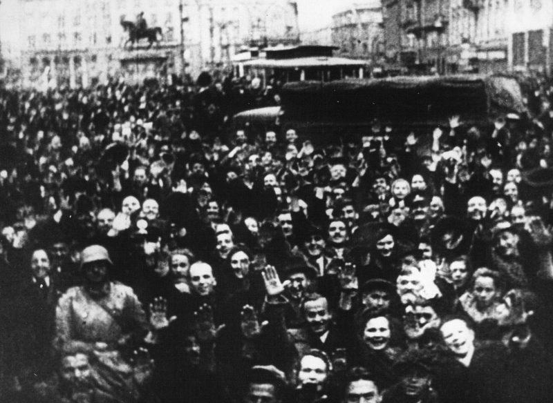 Немецкие войска в Загребе. Апрель 1941 г.